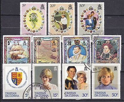 Tristan Da Cunha  3 X Commemorative Sets (24) Used