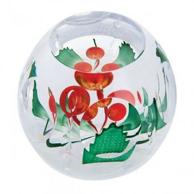 Caithness Glass Christmas Holly Berries Paperweight