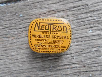 vintage C 1930 's Neutron wireless crystal radio catswhisker tin London radios