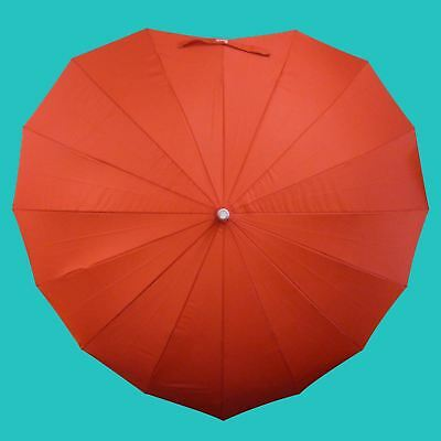 Heart Shaped Umbrella Valentines Gift for Her Long Umbrella Windproof