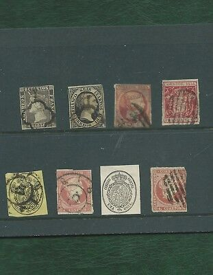 Spain collection of MH and used very old stamps off and on album pages