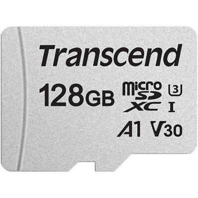 Transcend 128GB 300S V30 Micro SDXC TF Memory Card UHSI U3 95MBs For Mobiles New