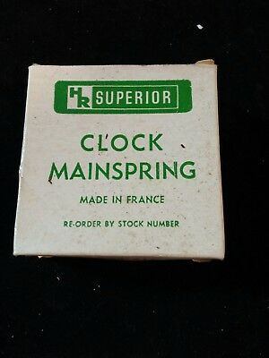 "New old stock Superior Clock Mainspring 3/4"" x 0.18"" x 96"" Loop End no 80-514"