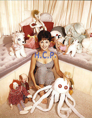 Marlo Thomas early-career chaismatic-smile surrounded by stuffed toys, c-photo!!
