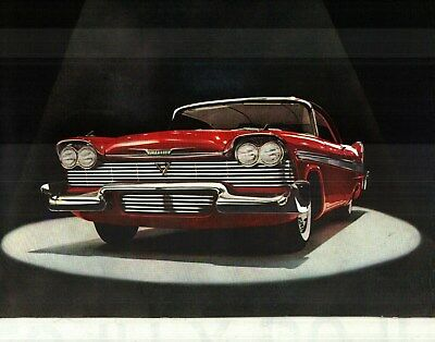 1958 Plymouth Fury, Savoy, Palaza, Belvedere & Wagon, Deluxe Color Sales Catalog