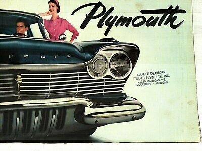 1957 Plymouth Belvedere, Savoy, Plaza & Wagons Deluxe Color Sales Brochure