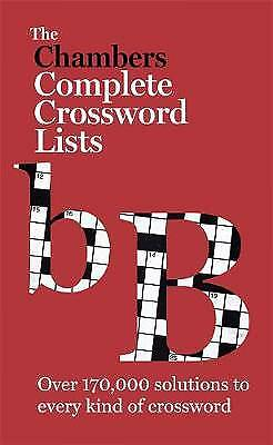 The Chambers Crossword Lists - New Edition, ,