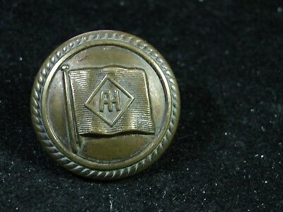 c. 1890 ALFRED HOLT BLUE FUNNEL LINE ( Shipping) 24mm BRASS COAT BUTTON Sp. Qual