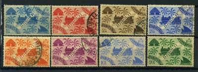 Coast of French Somaliland 1943 Yv. 240-247 Used 100% Londres, France libre