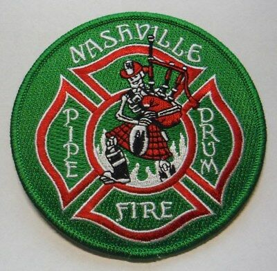Nashville Tennesse Fire Dept Pipes & Drums Band Patch Unused