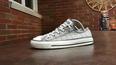 f71e5ff416c25f Womens Converse All Star Low Top Shoes Sz 6 Plaid Checker Used Blemish Read