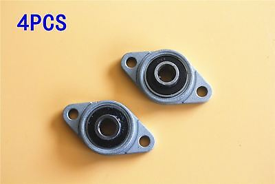 4Pcs 8mm KFL08 Pillow Block Bearing Horizontal Mounted Flange Rhombic Bearings