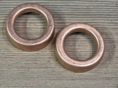 "2 Lightning rod ball end caps solid copper new replacements 1 9/16"" large"