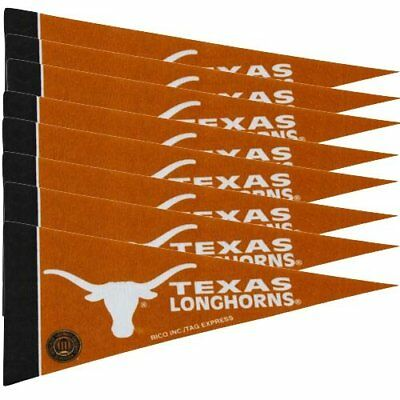 Texas Longhorns 8 Piece Mini Pennants Set Felt Team Logo Pack Ncaa