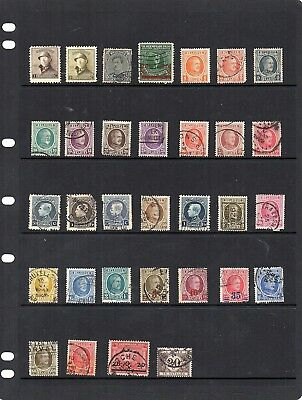 1920's Stamps from old Album - Hinged Mint or Used - Belgium x 56