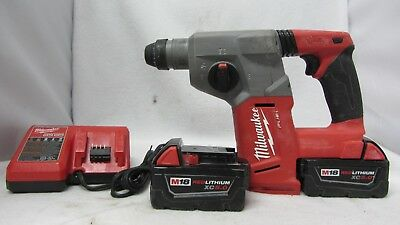"""Milwaukee 2712-20 M18 FUEL 1"""" SDS Plus Rotary Hammer DRILL With Two 5.0 Batt's"""
