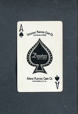SPADE ACE:  Arrco Playing Card Co.  - 1 Single Swap / Playing Card