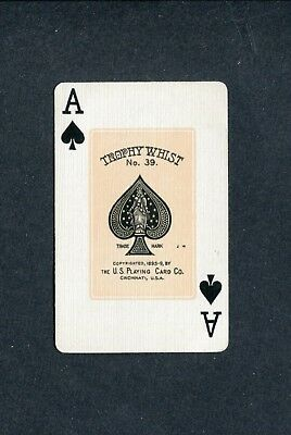SPADE ACE: U.S. Playing Card Co. TROPHY WHIST - 1 Single Swap / Playing Card