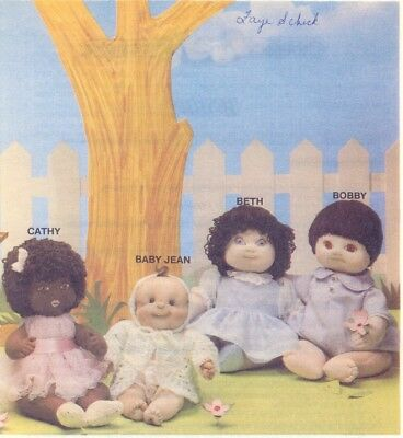 Soft Sculpture Art Doll Pattern Bobby Doll and Clothing