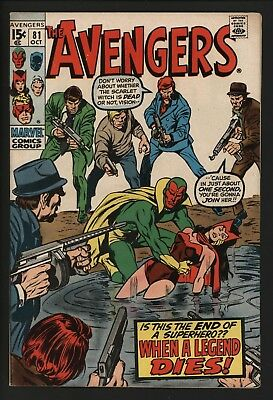 Avengers #81  Scarletwitch Dies?! Black Panther Appears Tight Vf Cents Great Pgs