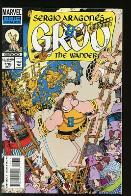 SERGIO ARAGONES GROO #116 VF/ NEAR MINT 1994 MARVEL COMICS bin-2018-0141