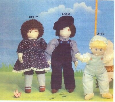 Soft Sculpture Art Doll Pattern Kelly Doll and Clothing