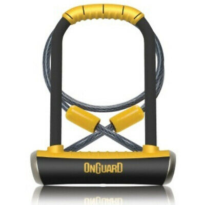 """OnGuard Pitbull DT Bike U-Lock with Cable (4.53"""" x 9.06"""") Bicycle Shackle"""
