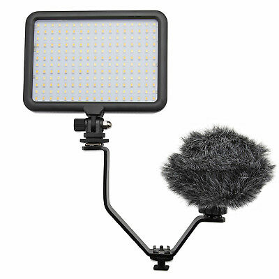 Rode On-Camera Microphone with Video Light and Knox Gear Flashlight Bracket