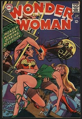 Wonder Woman #173 Dec 1967 Very Glossy Cents Copy White Pages Ross Andru Art