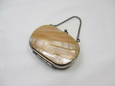 Late Victorian  Antique Mop Ladies Coin Purse On Chain