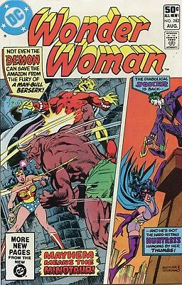 Wonder Woman #282 Joker VF- 7.5 Comic Book DC 1981