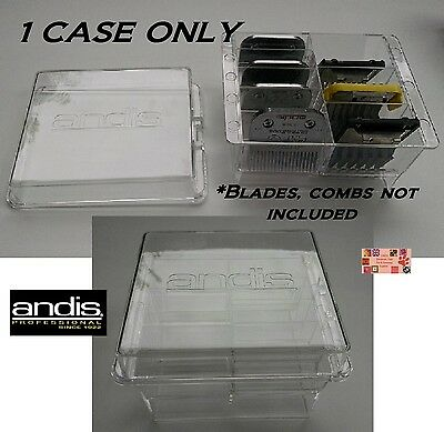 ANDIS Clipper BLADE&ATTACHMENT COMB STORAGE CASE Tote*Holds 8*AlsoFor Wahl,OSTER