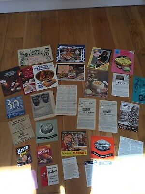 Large job lot of vintage advertising recipe books - 1940's onwards