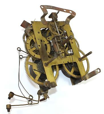 Ingraham 8 Day Time And Strike Bim Bam Clock Movement - Parts Or Repair - Kc588