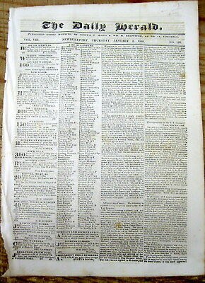 <1840 disply newspaper QUEEN VICTORIA ANNOUNCES ENGAGEMENT 2 Marry Prince Albert