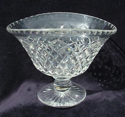 "HIGH QUALITY CUT CRYSTAL GLASS PEDESTAL BOWL 9"" x 7"" x 7"" HIGH"