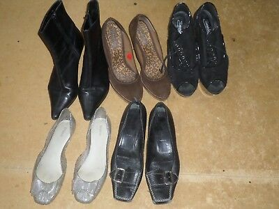 5 Pairs of  Women's shoes_Conditions vary_Bargain