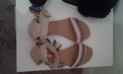 3 Pairs Of Sandals/sliders Size 5 Never Worn From Primark