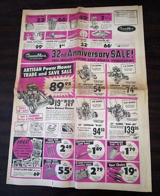 Vintage 1957 Gambles Hardware & Auto Supply Store Sales Paper N