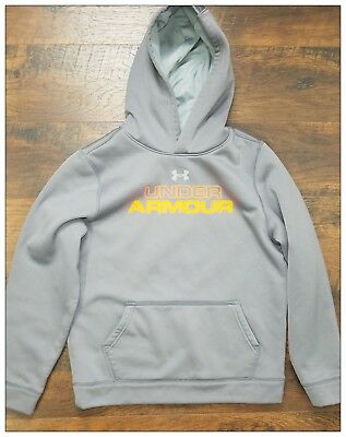 Youth Under Armour Hoodie Loose Fit Fleece Lined Large