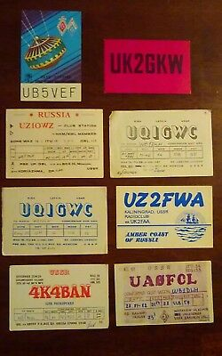 Eight USSR QSL cards - lot #7
