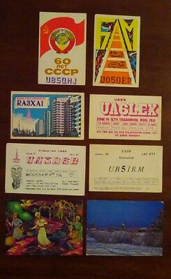 Eight USSR QSL cards - lot #3