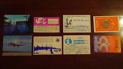 Eight USSR QSL cards