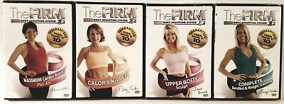 NEW The Firm BODY SCULPTING SYSTEM 2: 4 WORKOUT DVDs+FREE Fitness Health BONUSES
