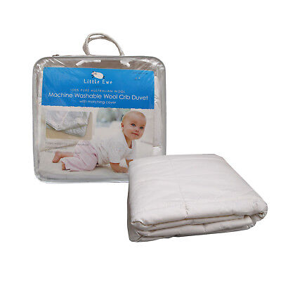 Australian Wool Machine Washable Cot Quilt / Doona / Duvet 90 x 120 cm