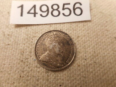 1906 Canada Five Cents Silver Toned Higher Grade Collectible Coin - # 149856