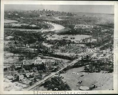 1946 Press Photo Aerial View Of Possible Site For United Nations In Philadelphia
