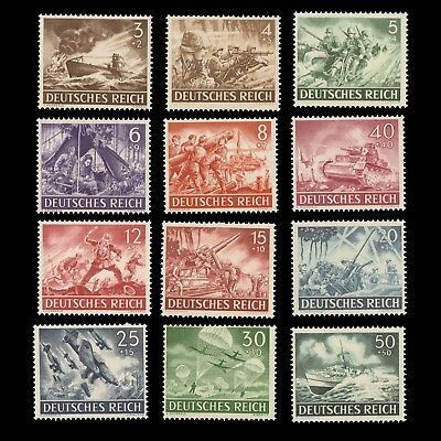 GERMANY 1943 WWII Army & Hero Day # B218-B229 MINT NH Complete Set CV$17