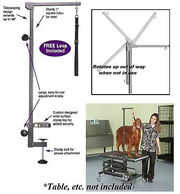 "Master Equipment Pro Grade Foldable 48"" TABLE ARM,CLAMP&LOOP Pet,Dog Grooming"