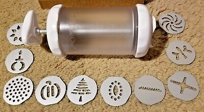 Pampered Chef Cookie/Pastry Press W/10 Discs # 1526